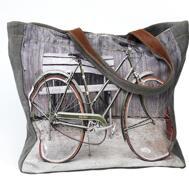 Canvasväska med cykelmotiv från The Moshi