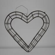 Dörrkrans i form av ett hjärta från Madley